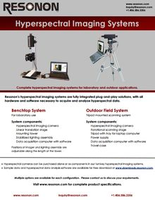 Hyperspectral benchtop system